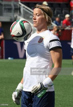 Silje Vesterbekkmo #12 of Norway warms up before the FIFA Women's World Cup Canada 2015 round of 16 match between Norway and England at Lansdowne Stadium on June 22, 2015 in Ottawa, Canada.