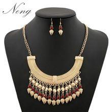 Bijoux Za mujeres 2015 Vintage BOHO étnico turco barroco de la joyería de la borla de la moneda Maxi collar Collares con pendiente de la aleación N1161(China (Mainland))