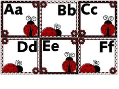 Jane - check this out!  Word wall letters for your ladybug-themed classroom.  These letters are 6 to a page....