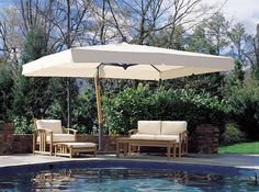 Giant Sidepost Umbrella, P-Series this wood be great near pool so kids don't get so much sun