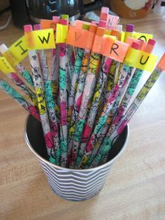 Kids pull a pencil with a letter flag on it, and then find the letter on their recording sheet and color it in.  Free recording sheet provided!