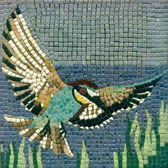 Mosaic Flying Bird - Mosaik Vogel - Mosaique Oiseau - Micro Ceramic Tiles - Craft By Alea Mosaik
