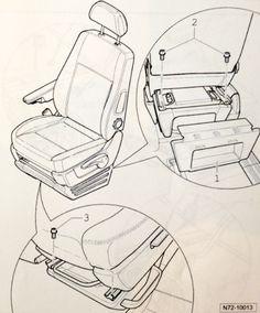 Voor de voorstoelen heb ik draaiplateau's geïnstalleerd. De stoel kan eenvoudig gedemonteerd worden door de 4 bouten los te draaien. Let er op dat je de eventuele kabels losmaakt alvorens de …