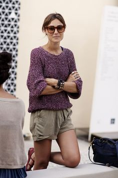 comfy sweater + shorts + super cute flats = how i'd like to dress most days