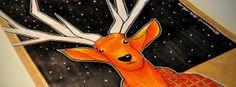by Łukasz Bogdanowicz, via Behance Deer, Disney Characters, Fictional Characters, Behance, Packaging, Coffee, Illustration, Handmade, Art