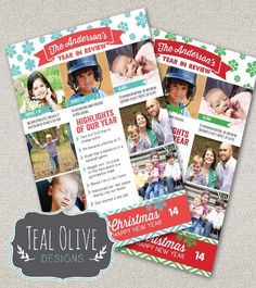 Christmas Card  Year In Review  Christmas by TealOliveDesigns Christmas 2017, Christmas Holidays, Merry Christmas, Xmas, Country Christmas, Christmas Decor, Christmas Ideas, Holiday Cards, Christmas Cards