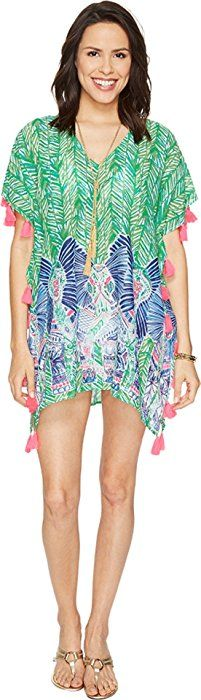 317c35e61c3 Lilly Pulitzer Women s Castilla Swim Cover-Up Tunic Toucan Green Costa  Verde Engineered Blouse at Amazon Women s Clothing store