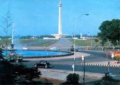 Monumen Nasional in 1967, Jakarta, Indonesia