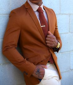 I really like this rust color blazer.