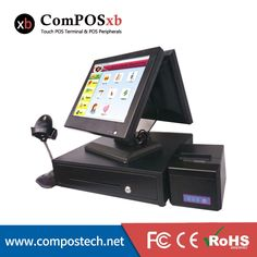 709.00$  Buy here - http://alil2p.worldwells.pw/go.php?t=32675535205 - China factory point of sale 15 inch double screen all in one cash register POS8815  cheaper pos system with black color
