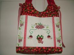 Discover our handbag, tote and purse patterns for machine embroidery at Enchanting Designs. The only place for all your machine embroidery designs. Embroidery Software, Machine Embroidery Designs, Tote Purse, Tote Handbags, Purse Patterns, Pattern Design, Strawberry, Cottage, Stitch