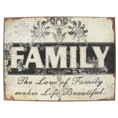 The Love of Family Tin Sign