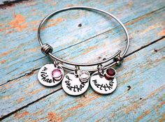 Hey, I found this really awesome Etsy listing at https://www.etsy.com/listing/273208612/custom-hand-stamped-mothers-bracelet