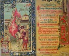Cartel de Las Fiestas de Primavera de Sevilla 1902
