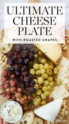 Ultimate Cheese Plate with Roasted Grapes via @PureWow
