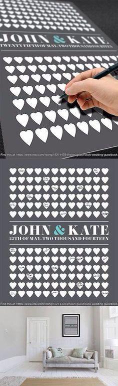 Heart Guest Book Heart Wedding Guest Book Heart by BrilliantIdea Trendy Wedding, Perfect Wedding, Diy Wedding, Dream Wedding, Wedding Day, Wedding Puns, Wedding Unique, Wedding Vintage, Wedding Wishes