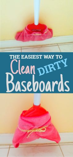 , An easy way to clean baseboards that won't hurt your back - Cottage Notes , An easy way to clean baseboards that won't hurt your back # Cleaning tips # House cleaning Deep Cleaning Tips, House Cleaning Tips, Cleaning Solutions, Spring Cleaning, Cleaning Hacks, Diy Hacks, Clean House Tips, Cleaning Products, Homemade Toilet Cleaner