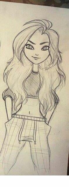 Boceto estilo teen