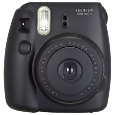Fujifilm - instax mini 8 Instant Film Camera - Black - Larger Front--have to buy the film separately