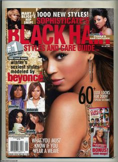Magazine photos featuring Beyoncé on the cover. Beyoncé magazine cover photos, back issues and newstand editions. Simply Hairstyles, Elegant Hairstyles, Black Hairstyles, Beyonce Black Hair, Official Hairstyle, Black Hair Magazine, Celebrity Singers, Magazine Pictures, Long Black Hair