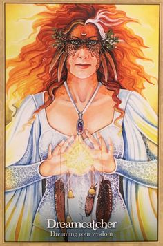 Dreamcatcher (dragonfae Oracle) ~ Ravynne Phelan - tarot and oracle author and artist Michele Lee, Angel Guide, Religion, Angel Cards, Oracle Cards, Archetypes, Magick, Witchcraft, Tarot Cards