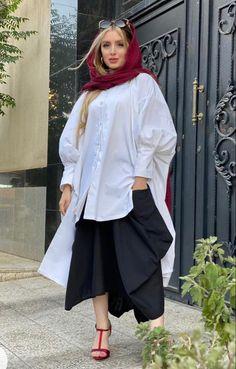 Iranian Women Fashion, Ethnic Fashion, Hijab Fashion, Fashion Outfits, Womens Fashion, Baby Boy Nike, Casual Dresses, Casual Outfits, Persian Girls
