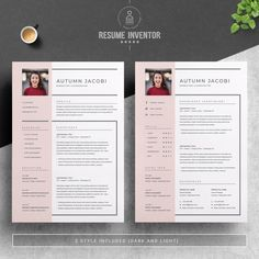 Resume Template 3 Page CV Template Cover Letter / Instant | Etsy Free Resume Examples, Great Resumes, Resume Cv, Resume Design, Resume Work, Cover Letter Template, Letter Templates, Create A Resume, Job Employment