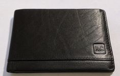 NEW Men's Black Genuine Leather Slim BiFold Wallet ID Credit Card Slots Lined  #RC #Bifold