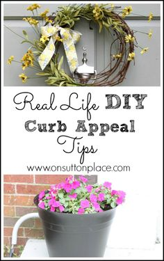 Tips and advice for the DIY'ers who want to add curb appeal to their homes. Anyone can do these!