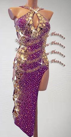 Mujeres Salón De Baile Salsa Samba Rumba Latino Baile Vestido EE. UU. 6 Reino Unido 8 Púrpura Lentejuelas oro | Ropa, calzado y accesorios, Trajes de baile, Trajes de baile para adultos | eBay!