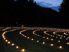 Nighttime Candle Labyrinth