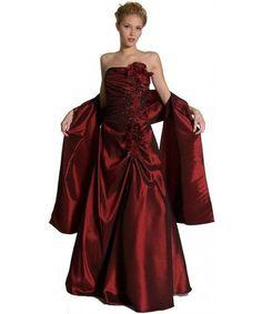 Satin matt Burgund bodenlangen Abendkleid mit Perlen Corsage $370.99 Abendkleider