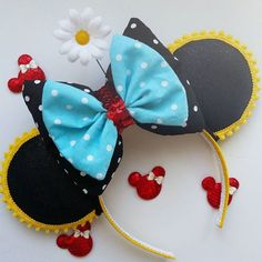 """Vintage Minnie"" Inspired Minnie Mouse Disney Ears"