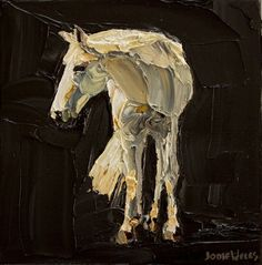 Love this horse painting. Looks like McGowan without the freckles :)