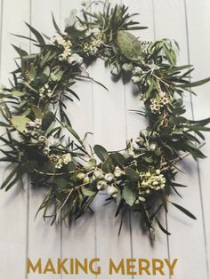 Christmas wreath Australian natives