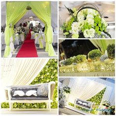 Chenta Weddings: Really LOVE this set up. Especially the pelamin. Also very nice hantaran