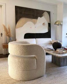 Interior design living room - The Fabric I Historically HATED is Making a Comeback Is Boucle the New It Fabric – Interior design living room Living Room Interior, Home Interior, Interior Decorating, Modern Living Room Decor, Studio Interior, Interior Colors, Decorating Kitchen, Decorating Games, Interior Modern