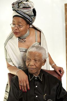 Former President of South-Africa Nelson Mandela with his wife, Mozambican politician Graca Machel, at a photoshoot for his 90th birthday at the InterContinental hotel, London, 25th July 2008.