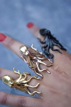 Rosy Octopus Ring by Fleatherfox on Etsy