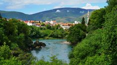 #balkans #bosnia #bosnia and herzegovina #europe #green #landsape #mostar #nature #river #riverside 4k