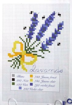 Gallery.ru / Фото #9 - Лаванда - lekar Lavender Crafts, Lavender Bags, Lavender Sachets, Cross Stitching, Cross Stitch Embroidery, Hand Embroidery, Cross Stitch Designs, Cross Stitch Patterns, Wedding Cross Stitch