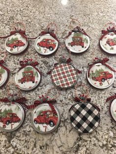 Mason jar lid and fabric Christmas ornament masonjarchristmascrafts – christmasornaments. Primitive Christmas Ornaments, Fabric Christmas Ornaments, Christmas Mason Jars, Rustic Christmas, Christmas Fun, Traditional Christmas Decor, Cowboy Christmas, Canning Jar Lids, Mason Jar Lids