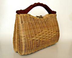 vintage wicker purseSuper taška