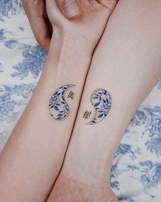 Dainty Tattoos, Pretty Tattoos, Mini Tattoos, Beautiful Tattoos, Body Art Tattoos, New Tattoos, Tatoos, Korean Tattoos, Asian Tattoos