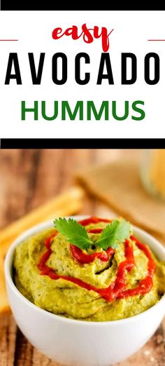 Avocado Hummus is the perfect marriage of two favorites! I am wild about this snack, and I think you will be too. It comes together in a flash. In addition making a great appetizer, it is also fabulous on a sandwich, wrap, and even with Mexican food. This Spicy Avocado Hummus Recipe is good it deserves to become a habit! Hummus Recipe With Tahini, Healthy Hummus Recipe, Gluten Free Recipes For Breakfast, Healthy Gluten Free Recipes, Vegetarian Recipes, Healthy Meats, Healthy Appetizers, Healthy Snacks, Mexican Food Recipes