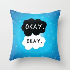 Okay. Okay. Throw Pillow | John Green - The Fault in Our Stars Inspired for Teen Room