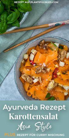 Meal Prep tauglich: Ayurveda Karottensalat Asia Style