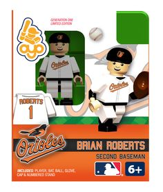 Brian Roberts - Baltimore Orioles, Minifigure  --I have the Wieters and Jones ones. I need this.