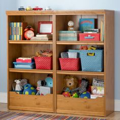 Kids' Bookcases: Kids Honey Flat Top With Adjustable Shelves Bookcase Kids Room Bookshelves, Bookcases, Kids Storage Furniture, Cool Shelves, Storage Spaces, Toy Storage, Storage Benches, Playroom Storage, Playroom Ideas