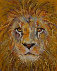 Lion Stretched Canvas